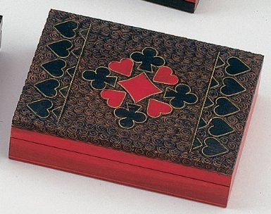 Brass Inlay Wooden Card Box