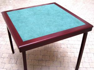 Elite folding bridge table mahogany