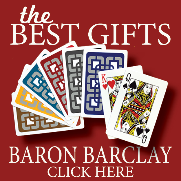 bridge supplies playing cards books and software duplicate bridge supplies from Baron Barclay