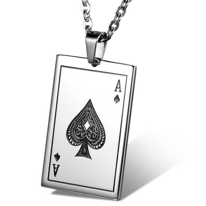 Card Charm with Ace of Spades