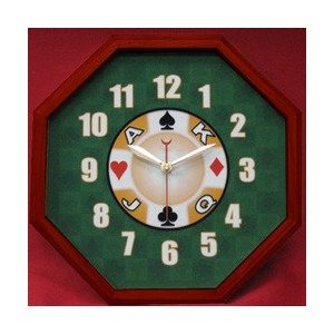 Beautiful Card Motif Clock with Suit Symbols