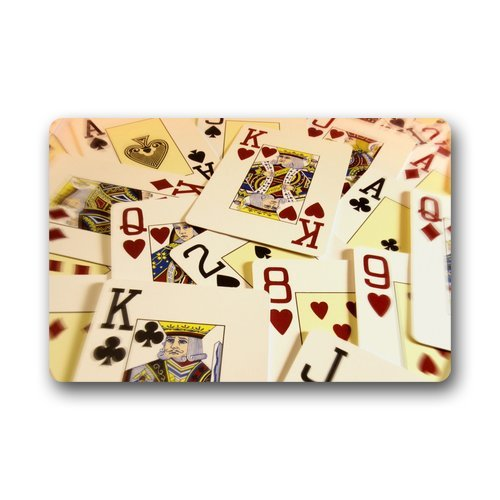 Playing Card Motif Door Mat
