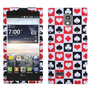 LG Cell Phone Case Cover with suit symbols