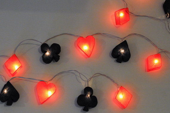 20 light of heart, diamond, spade, club lantern string