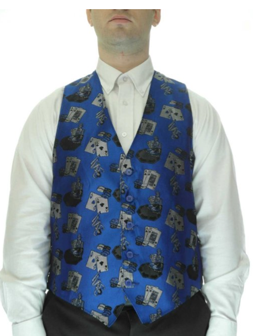 Casino Mens Vest with Card Motif