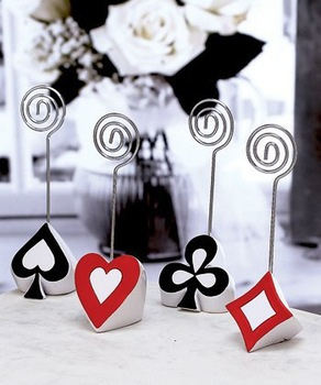 Newest Wedding favor Wholesale 300PCS/LOT(spades hearts clubs and diamonds choice) Poker Themed Place Card Holders