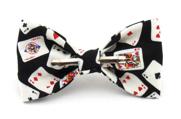 Playing card bow tie club diamond heart spade ace poker bridge