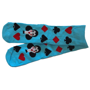 Socks with Bridge Card Suits Motif