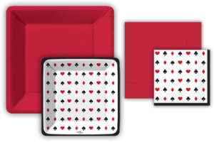 New Card Play Plate and Napkin Set