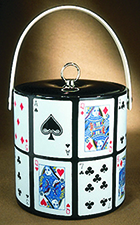 Ice Bucket with playing cards poker