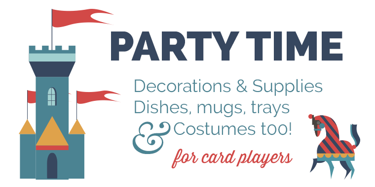 Party Supplies for card game players, poker, bridge