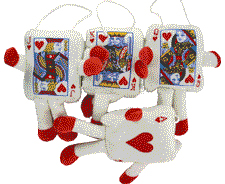 Plush Playing Cards Decorations