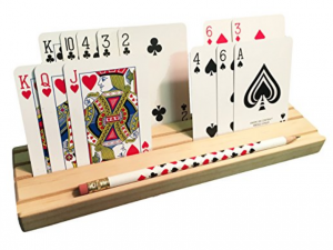 Wooden Playing Card Holder with Pencil - Gifts for Card Players