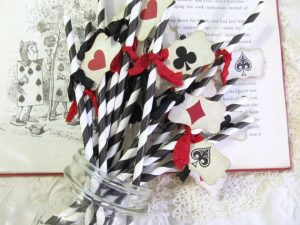 Card Party Drinking Straws