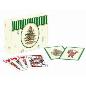 Spode Christmas Tree Playing Cards