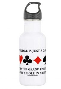Water bottle: if bridge is just a game then the Grand Canyon is just a hole in the ground