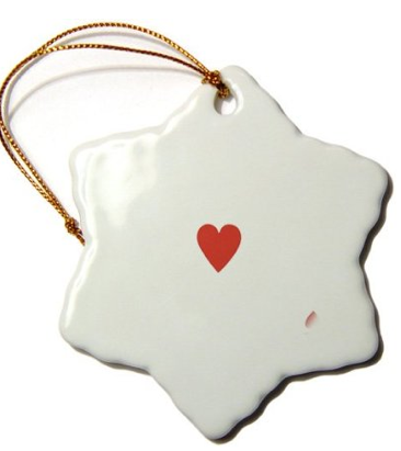 Ceramic Christmas Ornament with Suit Symbol