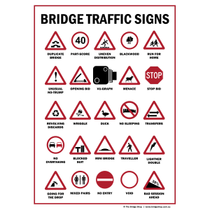 Humour Bridge Road Signs Tea Towel