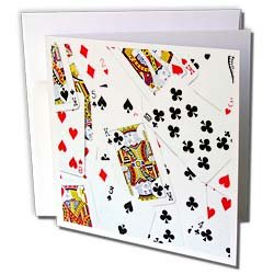 Playing Card Suits Motif Greet Cards Blank
