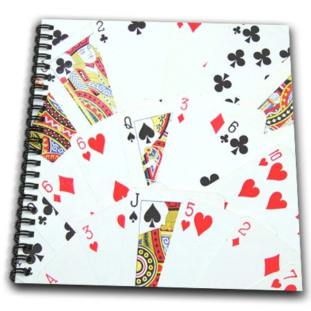 Memory book scrap book photo alblum playing card motif bridge game