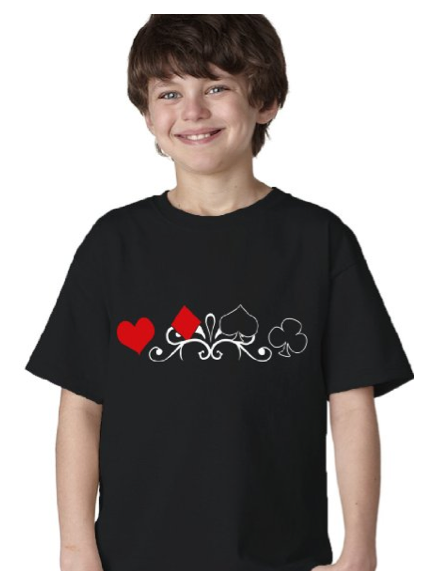 Card Suit Motif Symbols youth Tshirt