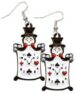 Novelty Clown Card Suit Motif earrings