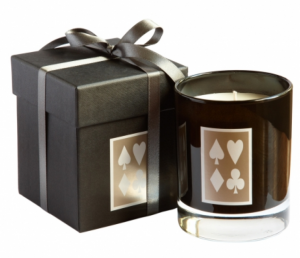Beautiful candle with card motif