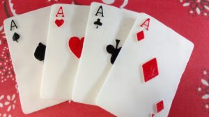 Fondant Cake Toppers Playing Card Motif