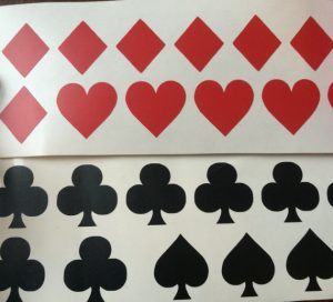 Playing Card Suit Symbol Stickers