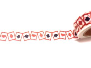 Washi Tape with Playing Card Suit Symbols as displayed on Gifts and Supplies for Card Players
