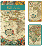 World map large print bridge set - Gifts for Card Players