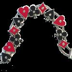 Card suit slide bracelet