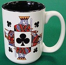 Card suit clubs coffee mug