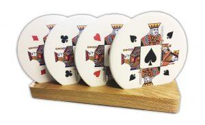 Card motif coasters card suit coasters