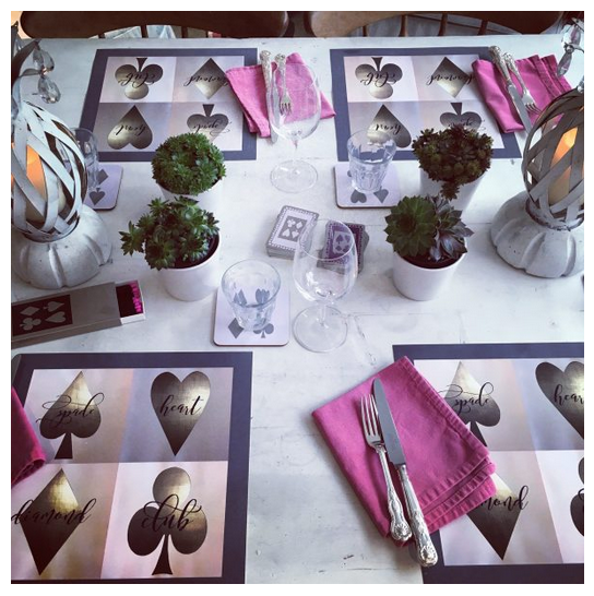 Laminated square placemats