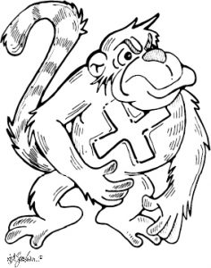 double, monkey, gorilla