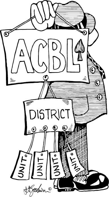 Man holding ACBL Organizational tree
