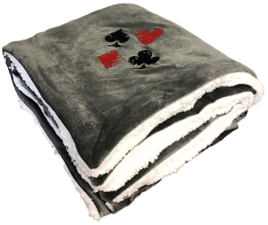 Card Symbol Blanket - Gifts for Card Players