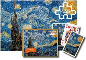 Puzzle and Playing Card Set - Gifts for Card Players