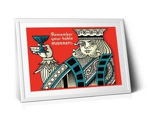 Table Manners Poster - Gifts for Card Players