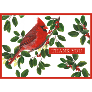 Cardinal Thank You Card - Gifts for Card Players