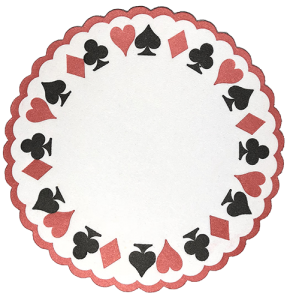 Paper Coaster Card Motif - Gifts for Card Players