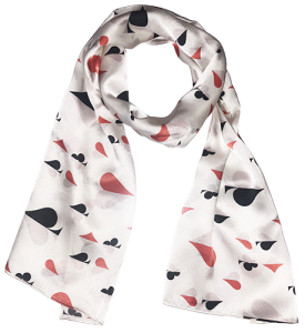 Card Suit Silk Scarf - Gifts for Card Players