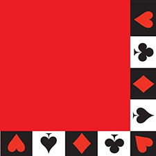 Paper Napkins Red Card Suit - Gifts for Card Players