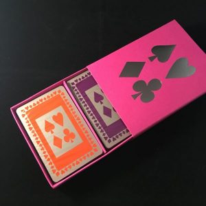 Fuchsia Sleeved Card Box - Gifts for Card Players