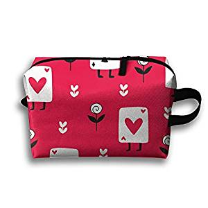 cosmetic case with playing card motif