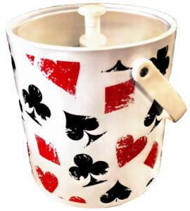 Ice Bucket Card Motif - Gifts for Card Players