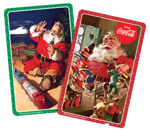 Jumbo Print Santa Cards - Gifts for Card Players