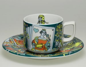 Beautiful Bopla Plate and Mug