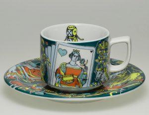 Beautiful Bopla Plate and Mug